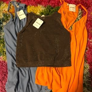 Free People Bundle Of 4 Shirts Size M NWT